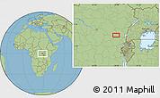 "Savanna Style Location Map of the area around 0°21'0""S,28°7'30""E"