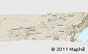"Shaded Relief Panoramic Map of the area around 0° 21' 0"" S, 28° 58' 30"" E"