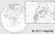 """Blank Location Map of the area around 0°21'0""""S,31°31'29""""E"""