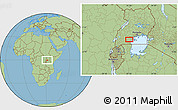 "Savanna Style Location Map of the area around 0°21'0""S,31°31'29""E"