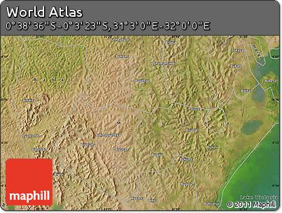 "Satellite Map of the Area around 0°21'0""S,31°31'29""E"