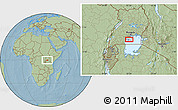 """Savanna Style Location Map of the area around 0°21'0""""S,32°22'30""""E, hill shading"""