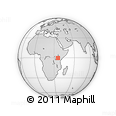 Outline Map of Nakuru, rectangular outline