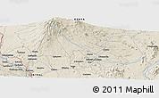 Shaded Relief Panoramic Map of Embu