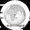Outline Map of Mivukoni Primary School, rectangular outline