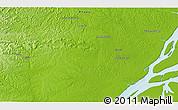 Physical 3D Map of Mazagão Velho