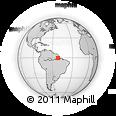 Outline Map of Mazagão Velho, rectangular outline