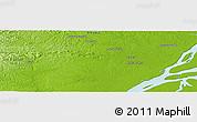 Physical Panoramic Map of Mazagão Velho