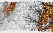 """Physical 3D Map of the area around 0°21'0""""S,78°7'30""""W"""