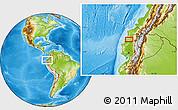 Physical Location Map of La Bramadora