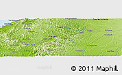 Physical Panoramic Map of La Bramadora