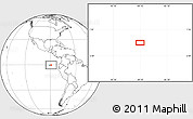 """Blank Location Map of the area around 0°21'0""""S,89°10'30""""W"""