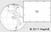 """Blank Location Map of the area around 0°21'0""""S,90°1'30""""W"""