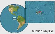 "Satellite Location Map of the area around 0°21'0""S,90°1'30""W"