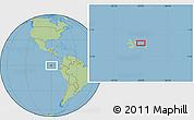 "Savanna Style Location Map of the area around 0°21'0""S,90°1'30""W"