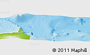 """Physical Panoramic Map of the area around 0°21'0""""S,90°1'30""""W"""