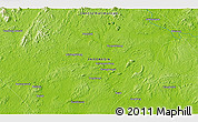 """Physical 3D Map of the area around 0°52'31""""S,113°58'29""""E"""