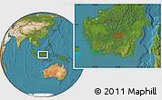 "Satellite Location Map of the area around 0°52'31""S,113°58'29""E"