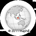 Outline Map of Gunung MAS Regency, rectangular outline