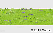 """Physical Panoramic Map of the area around 0°52'31""""S,113°58'29""""E"""
