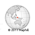 Outline Map of Hebera, rectangular outline