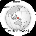Outline Map of Magamo, rectangular outline