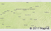 """Physical 3D Map of the area around 0°52'31""""S,23°52'30""""E"""