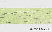 """Physical Panoramic Map of the area around 0°52'31""""S,23°52'30""""E"""