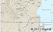 Shaded Relief Map of Bikira