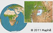 "Satellite Location Map of the area around 0°52'31""S,32°22'30""E"