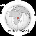 "Outline Map of the Area around 0° 52' 31"" S, 33° 13' 30"" E, rectangular outline"