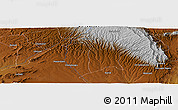 Physical Panoramic Map of Bomet