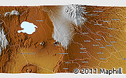 """Physical 3D Map of the area around 0°52'31""""S,36°37'30""""E"""