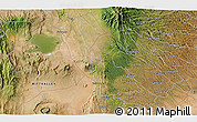 """Satellite 3D Map of the area around 0°52'31""""S,36°37'30""""E"""