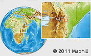 Physical Location Map of Kalimbui