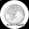 Outline Map of Kalimbui, rectangular outline