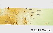 Physical Panoramic Map of Kalimbui