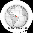 Outline Map of Bragança, rectangular outline