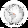 Outline Map of Marajó, rectangular outline