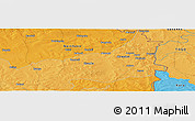 """Political Panoramic Map of the area around 10°7'21""""N,0°4'30""""E"""