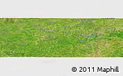 "Satellite Panoramic Map of the area around 10°7'21""N,0°4'30""E"