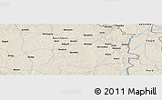 """Shaded Relief Panoramic Map of the area around 10°7'21""""N,0°4'30""""E"""