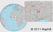 Gray Location Map of Kandé