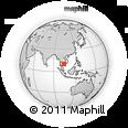 Outline Map of Phú Quốc, rectangular outline