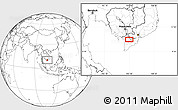 Blank Location Map of Long Xuyên