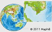 Physical Location Map of Long Xuyên