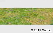 Satellite Panoramic Map of Vĩnh Long