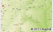 """Physical Map of the area around 10°7'21""""N,10°16'30""""E"""