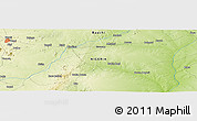 """Physical Panoramic Map of the area around 10°7'21""""N,10°16'30""""E"""