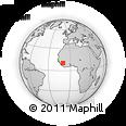 Outline Map of Banbakounian, rectangular outline